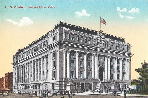US Custom House, New York City--Stretched Canvas Print