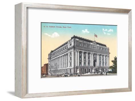 US Custom House, New York City--Framed Art Print