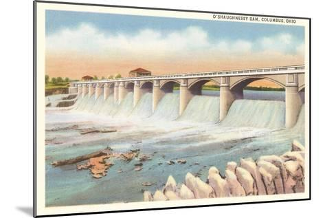 O'Shaughnessy Dam, Columbus, Ohio--Mounted Art Print