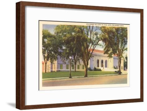Art Gallery, Columbus, Ohio--Framed Art Print