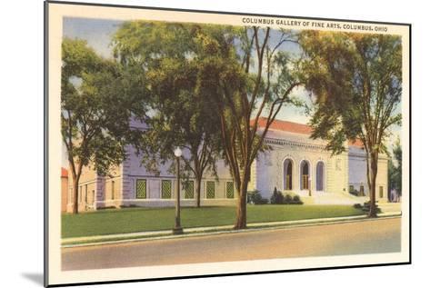 Art Gallery, Columbus, Ohio--Mounted Art Print