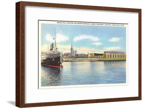 Waterfront, Cleveland, Ohio--Framed Art Print