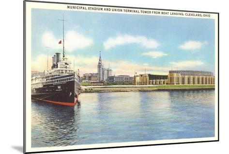 Waterfront, Cleveland, Ohio--Mounted Art Print