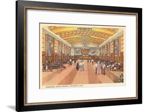 Interior, Union Terminal, Cincinnati, Ohio--Framed Art Print
