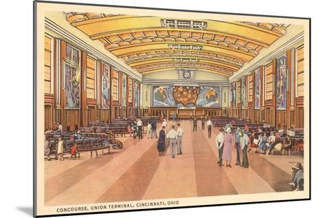 Interior, Union Terminal, Cincinnati, Ohio--Mounted Art Print