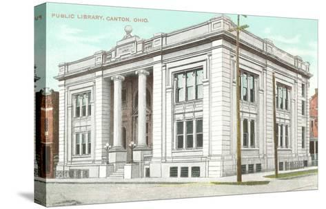 Public Library, Canton, Ohio--Stretched Canvas Print