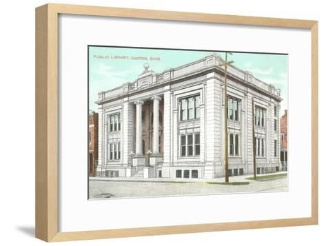 Public Library, Canton, Ohio--Framed Art Print