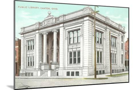 Public Library, Canton, Ohio--Mounted Art Print