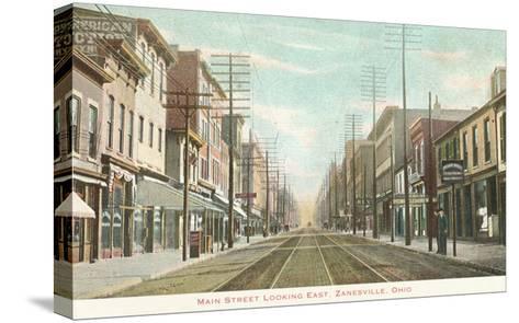 Main Street, Zanesville, Ohio--Stretched Canvas Print