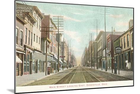 Main Street, Zanesville, Ohio--Mounted Art Print