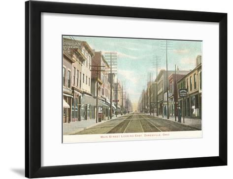 Main Street, Zanesville, Ohio--Framed Art Print