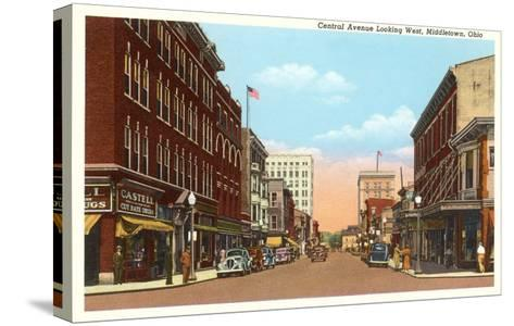 Central Avenue, Middletown, Ohio--Stretched Canvas Print