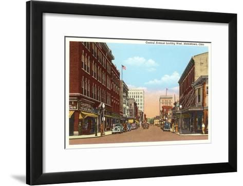 Central Avenue, Middletown, Ohio--Framed Art Print