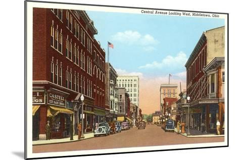 Central Avenue, Middletown, Ohio--Mounted Art Print