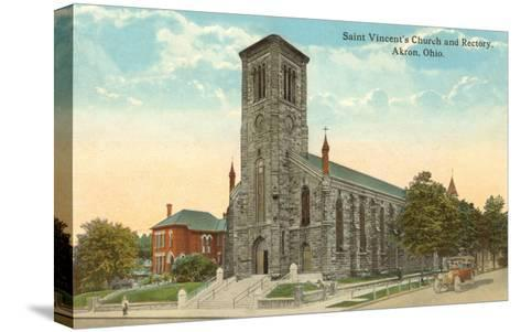 St. Vincent's Church, Akron, Ohio--Stretched Canvas Print