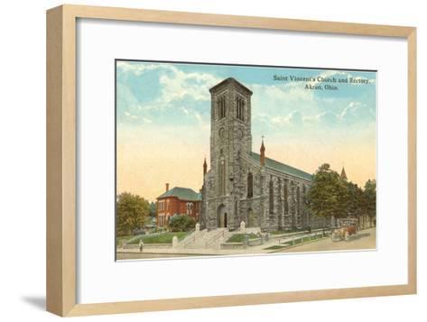 St. Vincent's Church, Akron, Ohio--Framed Art Print
