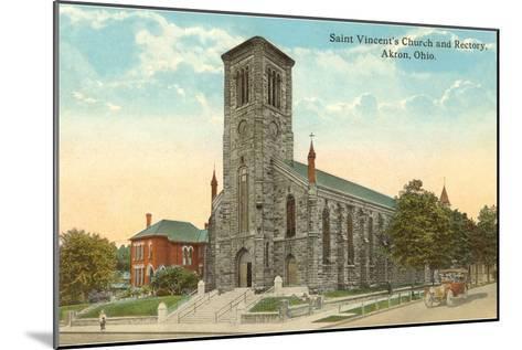St. Vincent's Church, Akron, Ohio--Mounted Art Print
