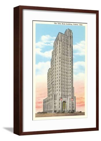 Ohio Bank Building, Toledo, Ohio--Framed Art Print