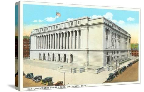 Courthouse, Cincinnati, Ohio--Stretched Canvas Print