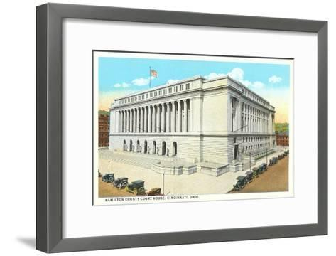Courthouse, Cincinnati, Ohio--Framed Art Print
