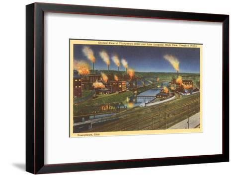 Night, Factories, Youngstown, Ohio--Framed Art Print