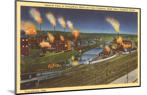 Night, Factories, Youngstown, Ohio--Mounted Art Print