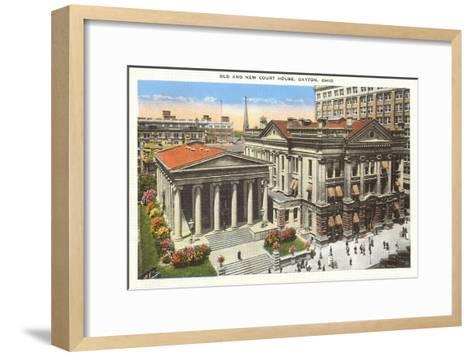 Old and New Courthouse, Dayton, Ohio--Framed Art Print