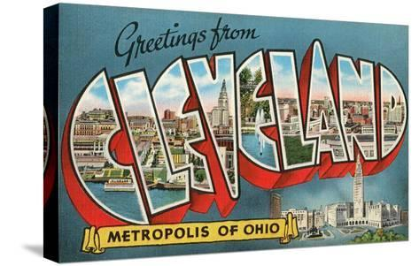 Greetings from Cleveland, Ohio--Stretched Canvas Print