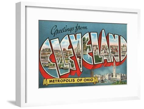 Greetings from Cleveland, Ohio--Framed Art Print
