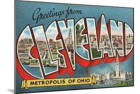Greetings from Cleveland, Ohio--Mounted Art Print