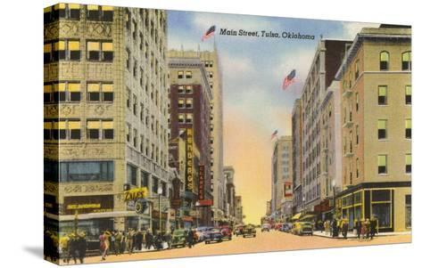 Main Street, Tulsa, Oklahoma--Stretched Canvas Print