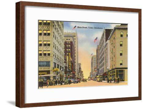 Main Street, Tulsa, Oklahoma--Framed Art Print