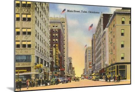 Main Street, Tulsa, Oklahoma--Mounted Art Print