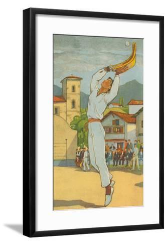 Jai Alai Player--Framed Art Print