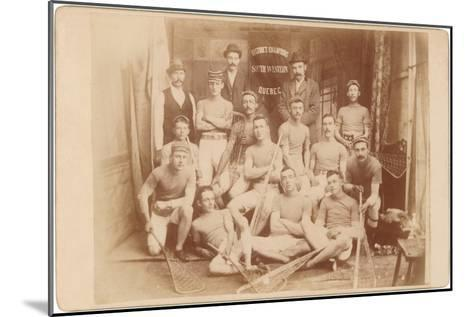 Photo of Quebec Lacrosse Team--Mounted Art Print