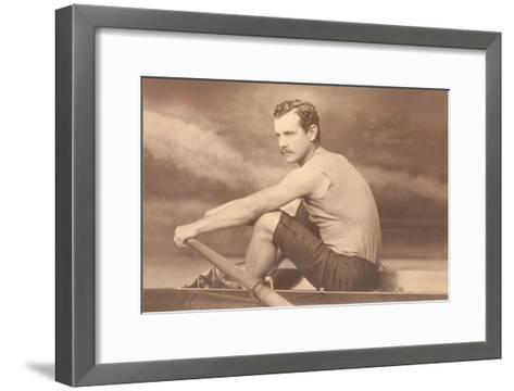 Oarsman Ned Hanlon--Framed Art Print