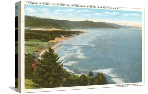 Beaches, Oregon Coast Highway--Stretched Canvas Print