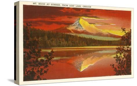 Mt. Hood at Sunset, Lost Lake, Oregon--Stretched Canvas Print