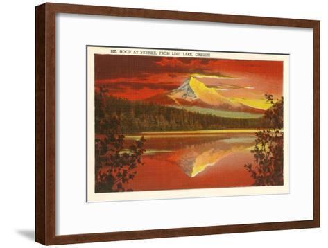 Mt. Hood at Sunset, Lost Lake, Oregon--Framed Art Print