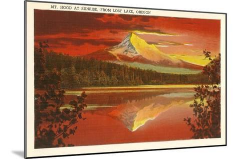 Mt. Hood at Sunset, Lost Lake, Oregon--Mounted Art Print