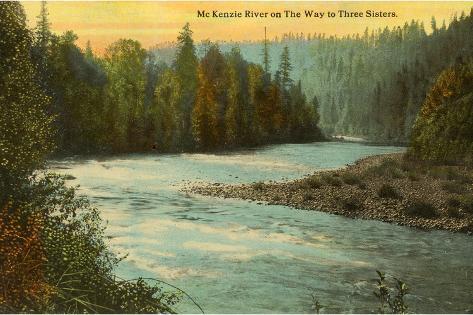 McKenzie River, Oregon--Stretched Canvas Print