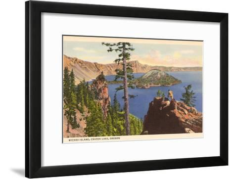 Wizard Island, Crater Lake, Oregon--Framed Art Print