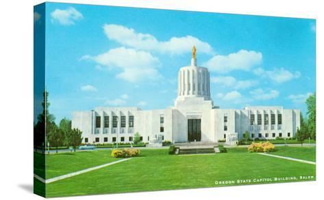 State Capitol, Salem, Oregon--Stretched Canvas Print