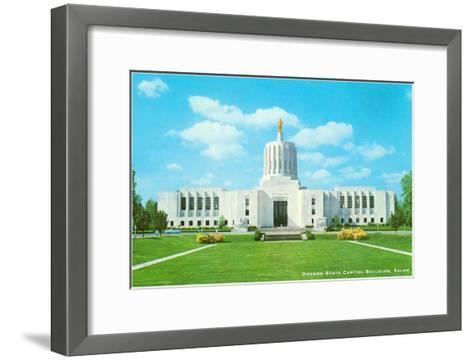 State Capitol, Salem, Oregon--Framed Art Print