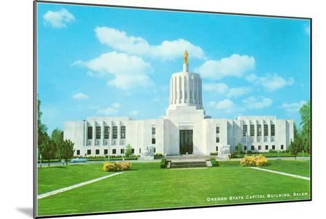 State Capitol, Salem, Oregon--Mounted Art Print