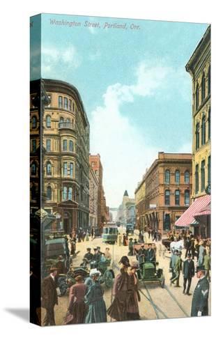 Washington Street, Portland, Oregon--Stretched Canvas Print