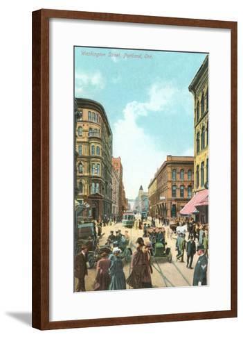 Washington Street, Portland, Oregon--Framed Art Print