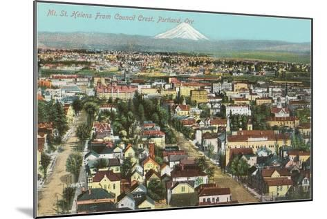 Mt. St. Helens over Portland, Oregon--Mounted Art Print
