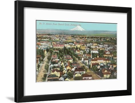 Mt. St. Helens over Portland, Oregon--Framed Art Print