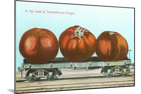Giant Tomatoes on Flat Bed--Mounted Art Print